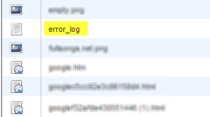 Error log cpanel