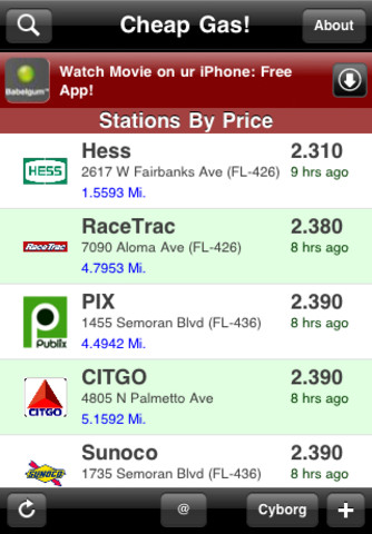 cheap gas