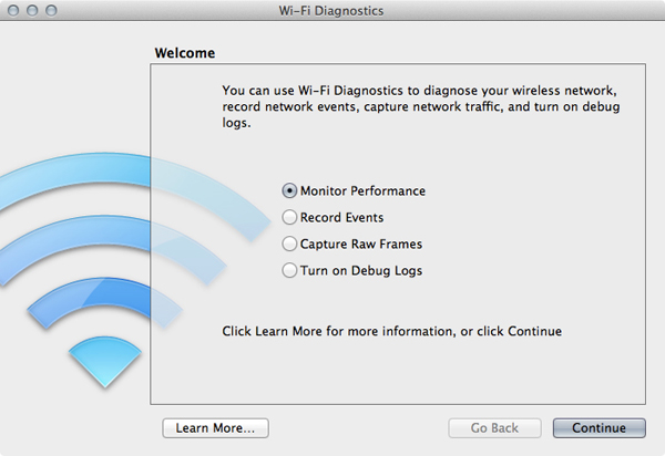 Mac Wifi Diagnostics