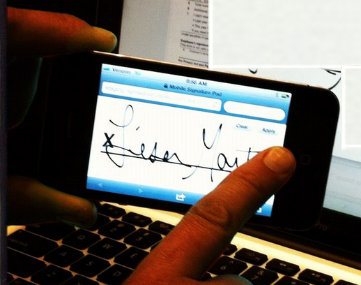 mobile electronic signatures