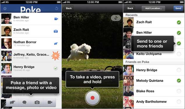 facebook poke app screenshot