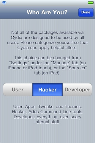 Cydia-User-Hacker-Developer