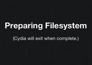 preparing filesystem